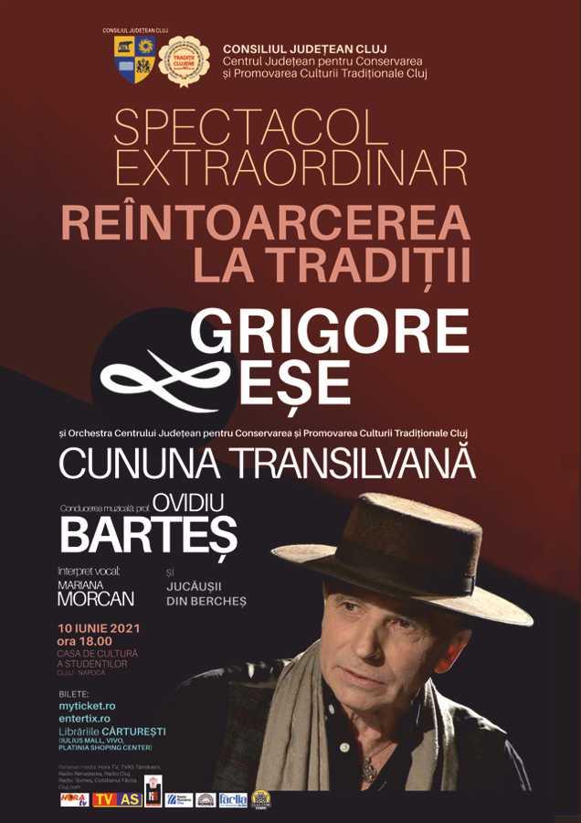 """Spectacol extraordinar de muzică tradițională """"Reîntoarcerea la tradiții"""". Invitat special: Grigore Leșe"""